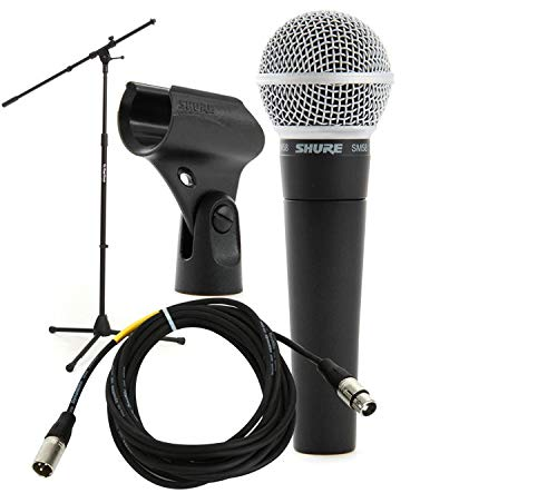 - Shure SM58 Handheld Microphone with Boom Stand and Cable