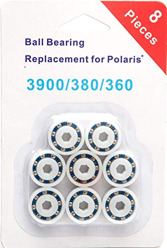 (PoolSupplyTown 8 Pack Wheel Ball Bearing Replacement for Polaris 360, 380, 3900 Sport, ATV Pool Cleaners Part No. 9-100-1108)