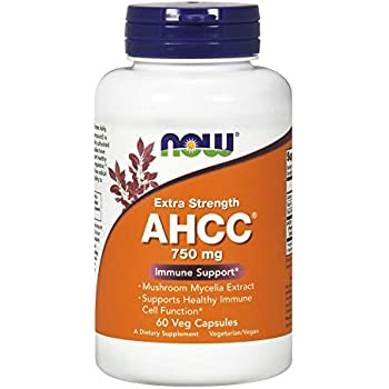 NOW  AHCC 750mg Xtra Strength, 60 Veg Capsules