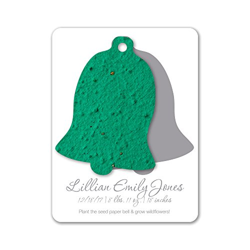 Bloomin Plantable Bell Birth Announcement Favor with Seed Paper - Forest {25 Card Set} ()