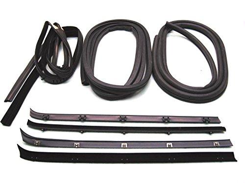 Outer Door Belt - Fairchild Automotive KG1008-8 Glass Run Channel Kit (Inner & Outer Belt Weatherstrip Kit, Complete , Door Seal Kit, Driver Side & Passenger Side)