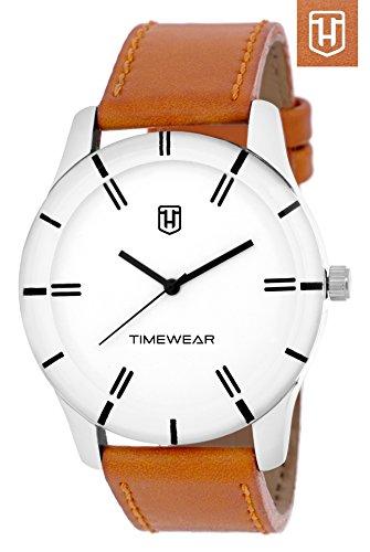 H Timewear Formal White Dial Men's Watch – 146WDTG