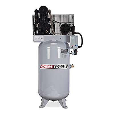 OEMTOOLS 26101 5HP 80 Gallon Three Phase 230V Air Compressor from OEMTOOLS