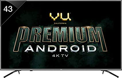 039a11a9da3 Image Unavailable. Image not available for. Colour  VU 108 cm (43 Inches) 4K  Ultra HD Smart LED TV ...