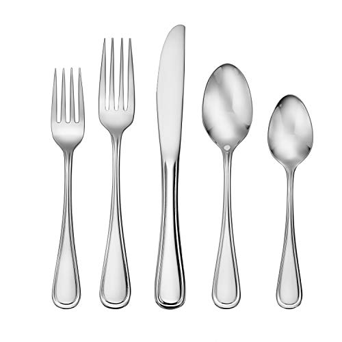 Liberty Tabletop Classic Rim 45 Piece Flatware Set for 8 Made in USA ()