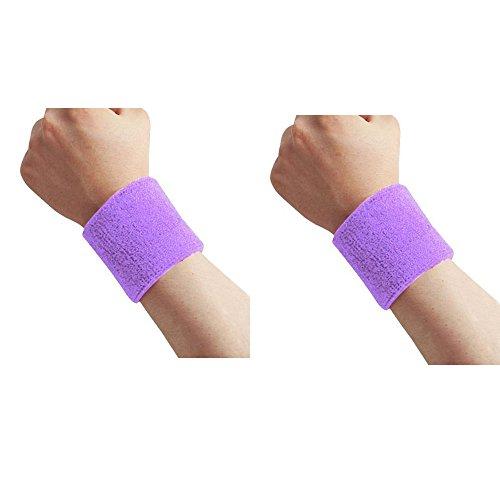 Sportline Schweißband Wristbands Schweißbänder unisex Sport Jogging Wristband Sweatband in 10 Farben (Lavender-1Stück)