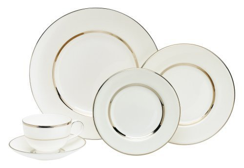 Royal Doulton Platinum Silk - Royal Doulton Platinum Silk 5-Piece Place Setting, Service for 1 by Royal Doulton