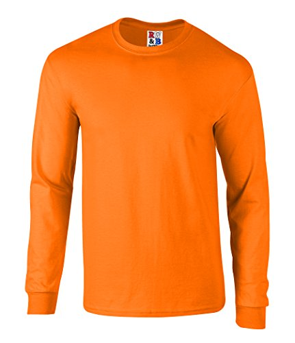 Men 39 s high visibility safety long sleeve t shirt 100 for Usa made work shirts