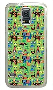 Animal Background Samsung Galaxy S5 Transparent Sides Hard Shell Case by Sakuraelieechyan hjbrhga1544