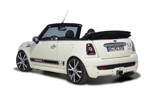 Mini Cooper S Cabriolet by AC Schnitzer (2009) Car Art Poster Print on 10 mil Archival Satin Paper White Rear Side Studio View 16
