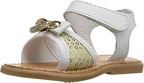 Toddler Pink Combo Footwear - Kid Express Baby Girl's Ivette (Infant/Toddler) White Combo Sandal 15 (US 0 Infant) M