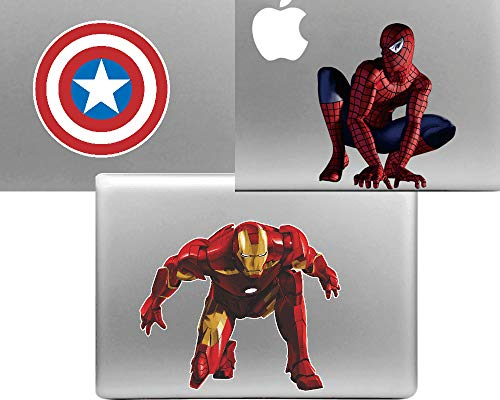 (3 PACK Decal Sticker Skin for Apple Macbook Pro Air Retina 13