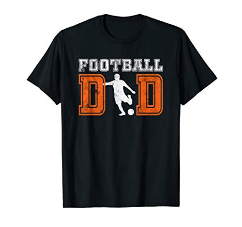 Football Dad T-Shirt Fathers Day Gift for Daddy Papa Grandpa