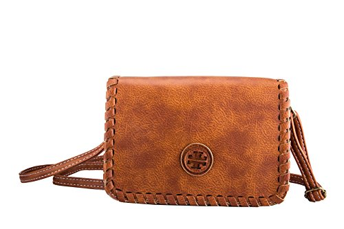 Fashion Mini Bag Ladies & Girls Messenger Bag Crossbody Shoulder Purse (Light brown)