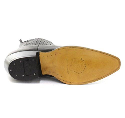 Grinders Vintage Mens Classic 100% Real Leather Cowboy Mid Long Boots - Maverick Black Uz68qJg