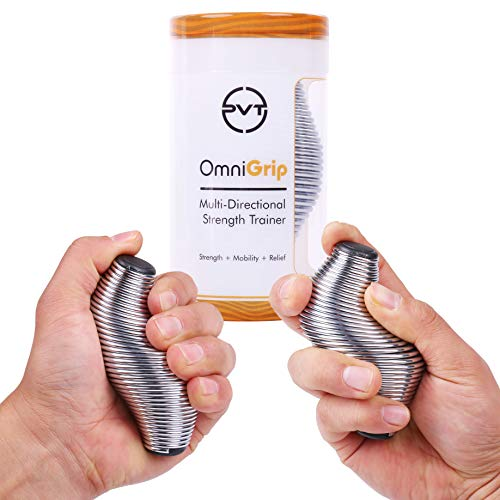 Pivot Performance  OmniGrip 2.0 Strength Trainer & Stress Ball - Hand Finger Wrist Forearm Thumb Exerciser Grip Strengthener | Anxiety Stress Relief Therapy for Adults and Kids