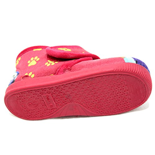 Vulcabicha 1083 - Zapatillas con velcro de la Patrulla Canina Rojo