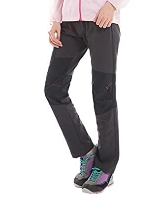 Deeko Women's Quick Dry Pants for Hiking with Elastic Waistband