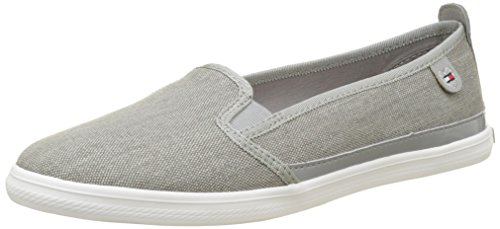 Tommy Hilfiger K1285eira Hg 2d1, Zapatillas para Mujer Gris (Light Grey 007)