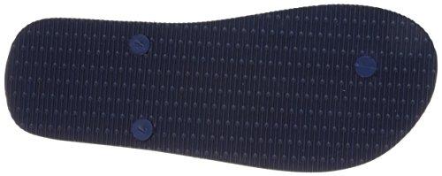 A | X Armani Échange Mens Armani Échange Solide Flip Flop Bleu Profond / Pissenlit