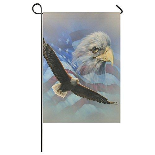 Eagle American Flag Polyester Garden Flag Outdoor Banner 28