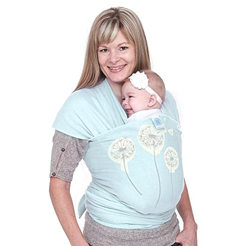 Moby Wrap Cotton Baby Carrier, Mint Dandelion