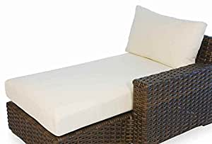 Contempo Left Arm Chaise Seat and Back Cushion (Canvas Tangerine)