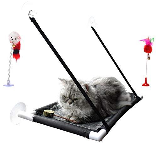 (Cat Window Perch New Upgraded Large Suction Cup Cat Window Hammock Pet Window Sill Sun Bath Hammock Seat Upgrade Sucker Can Hold 50ib)