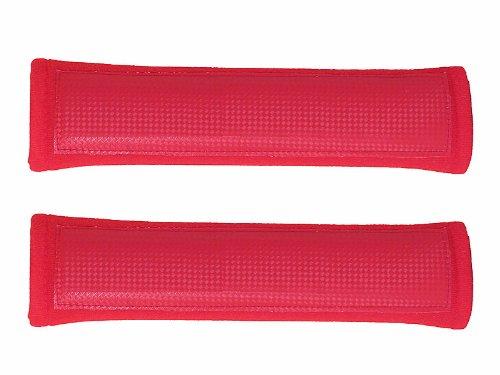 Tuningage Automax Gurtpolster rot sehr weich und dick LxBxH 260x70x35mm