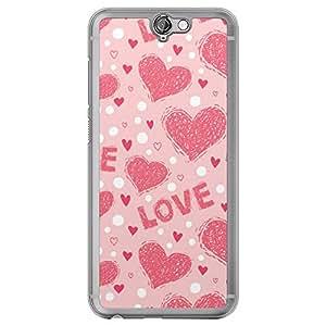Loud Universe HTC One A9 Love Valentine Printing Files Valentine 173 Printed Transparent Edge Case - Pink