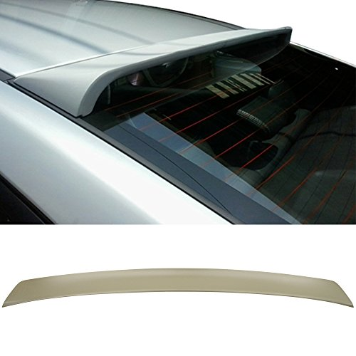 Roof Spoiler Fits Fits 2010-2015 Hyundai MD Elantra 4Dr 4Door | Unpainted ABS Factory Style Other Color Available Rear Trunk Tail Spoiler Wing by IKON MOTORSPORTS | 2011 2012 2013 2014