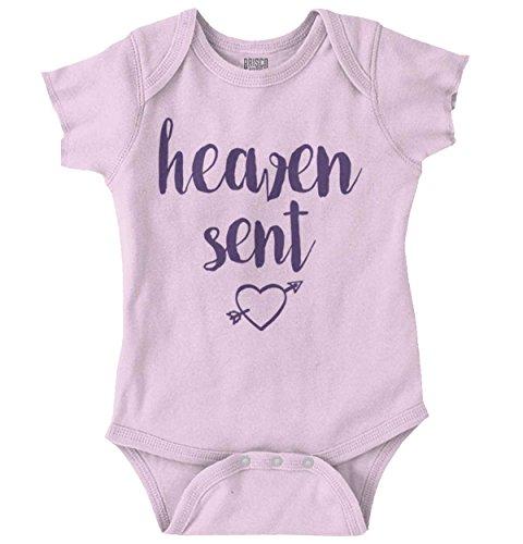 Sent Adorable Christian Shower Gift Romper Bodysuit Pink ()