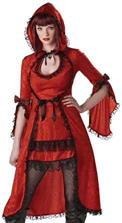 California Costumes Women's Red Riding Hood/Adult Costume,Red/Black, Small