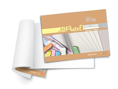 Campap White Pastel Paper Pad, Acid Free   160 GSM   A4 Size  24 Sheets