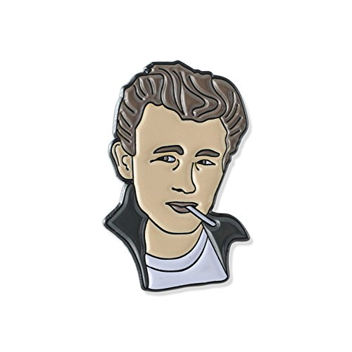Hollywood Movie Stars Celebrity Enamel Lapel Pin – James - Hollywood Fashion Celebrity