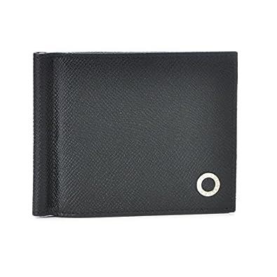 c29b05e538d2 BVLGARI(ブルガリ) 財布 メンズ グレインレザー マネークリップ 2つ折り財布 ブラック 36333-0003