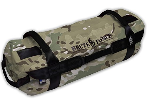 Brute Force Sandbags - Athlete Sandbag - Camo - Athletic Elite XL Sandbag Training Workout Bag Heavy Duty Sandbag Physical Therapy Sandbag