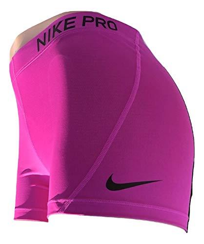 Nike Womens 3'' Pro Compression Short (Vivid Pink/Black, Medium) by Nike (Image #2)