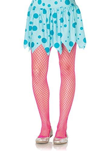 Girls Neon Pink Fishnet Tights (Halloween Costumes Fishnet Tights)