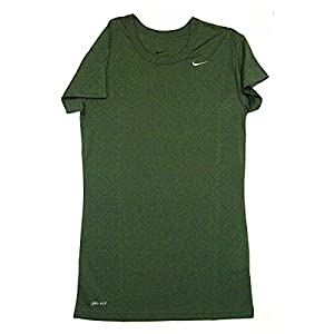 Nike Women's Performance Short Sleeve Shirt Green Medium