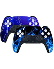 PS5 Controller Skin Vinyl Decal Sticker Protective Cover for Sony PlayStation 5 PS5 DualShock Wireless Gamepad 2Pack (C)