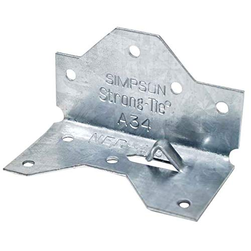 (100 Count) Simpson A34 1-7/16 x 2-1/2-In Framing Anchor