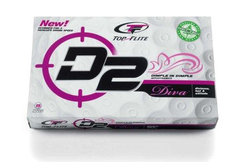 Top-Flite D2 Diva Golf Balls (15-Pack)
