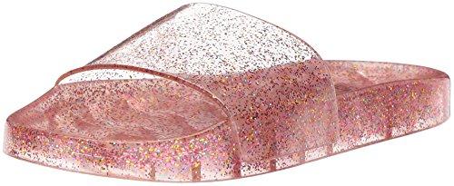 The Children's Place Girls' BG Jelly Slide Flat Sandal, Pink, Youth 1 Medium US Big Kid