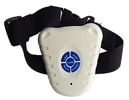 Pet Life Non-Shock Waterproof Safe Anti-Bark Collar, White