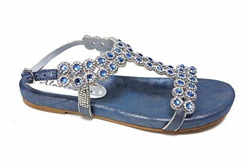 Alma en Pena 325 - Sandalias de vestir para mujer Azul