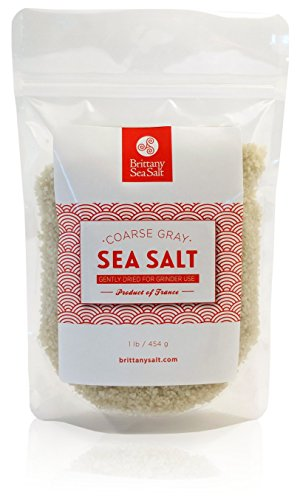 Dried French Coarse Gray Sea Salt for Grinders by Brittany Sea Salt - Premium Gourmet Sea Salt -