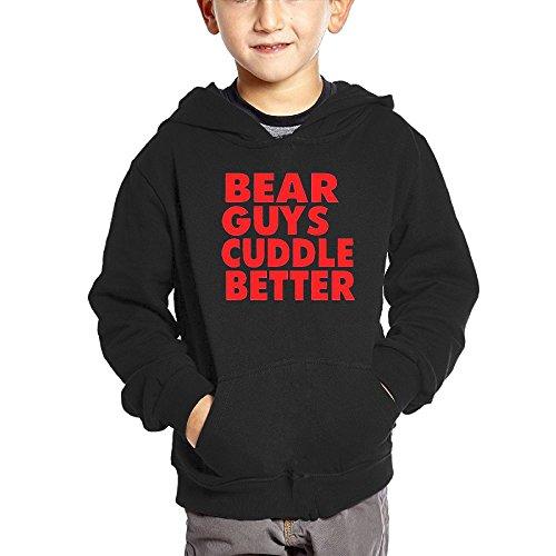uddle Better Children Long Sleeve Hoodie 3 Toddler Black Unisex (Teacher Tapestry Throw)