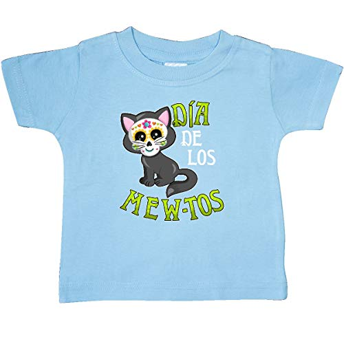 inktastic - Día de Los Mew-TOS- Day of Baby T-Shirt 12 Months Light Blue 3201e -