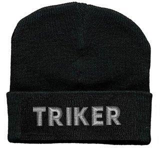 Hip-Hop Mütze mit Einstickung -Triker- (50889) Wollmütze Wintermütze Skimütze Strickmütze Beanie Mütze Kopfbedeckung